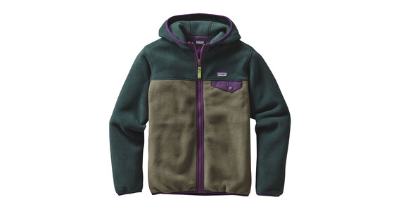 Patagonia Lightweight Synch Snap-T Hoody Boys Industrial Green